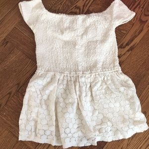 off the shoulder peplum from hollister